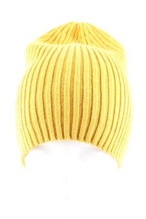 Hüftgold Czapka z dzianiny bladożółty Warkoczowy wzór W stylu casual