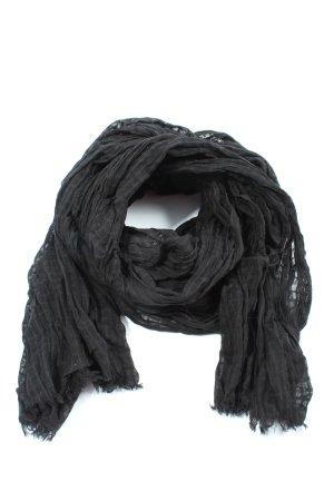 Hüftgold Écharpe en tricot noir motif rayé style décontracté