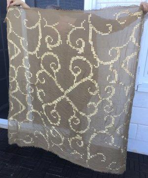 Hüftgold Chal veraniego marrón arena-color oro Viscosa