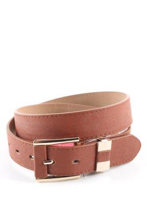 Cinturón de cadera marrón look casual
