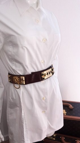 Cinturón de cadera marrón-color oro