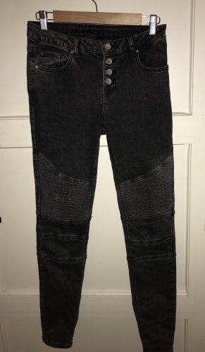 Amisu Pantalon taille basse multicolore