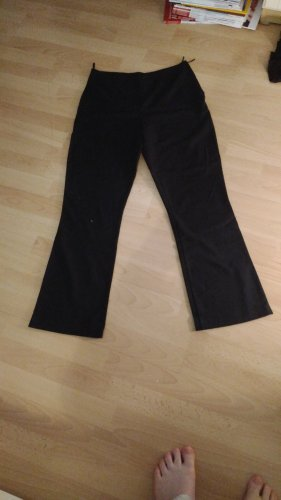 Bamboo Low-Rise Trousers black