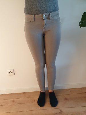 Pantalone a vita bassa beige chiaro-beige