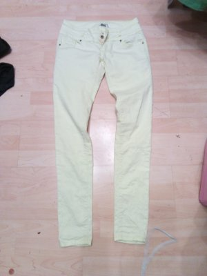 Pantalone a vita bassa giallo