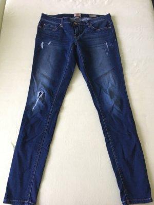 Only Jeans vita bassa blu scuro