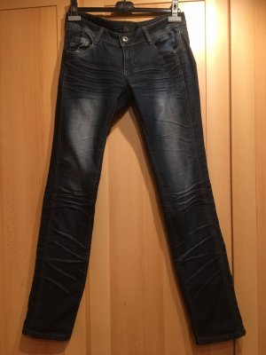 17&co Jeans taille basse bleu