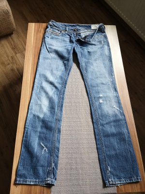 Diesel Industry pantalón de cintura baja azul