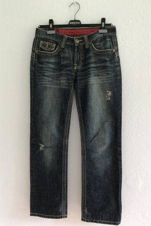 Low Rise Jeans steel blue cotton