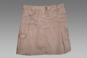 Esprit Cargo Skirt olive green cotton