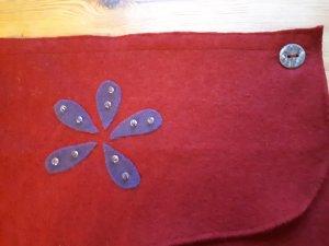 hand gemacht Wraparound Skirt carmine