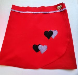 hand gemacht Wraparound Skirt red