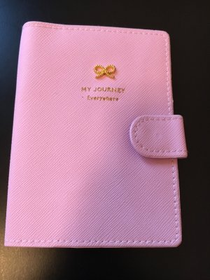 Porte-cartes rose