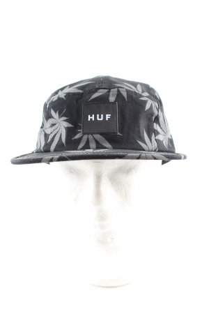 HUF Beret black-light grey allover print casual look