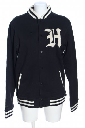 HUF College Jacket black-natural white themed print casual look