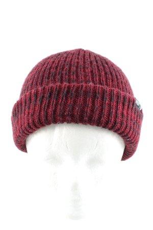 HUF Sombrero de punto rosa moteado look casual