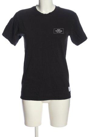 HUF T-Shirt schwarz Blumenmuster Casual-Look