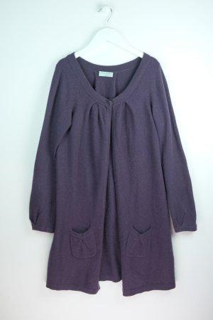 Hugenberg Abrigo de punto violeta oscuro Cachemir