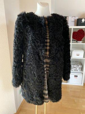 Hugenberg Abrigo de piel negro Pelaje