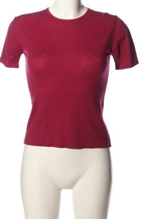 Hugenberg Gebreid shirt rood casual uitstraling