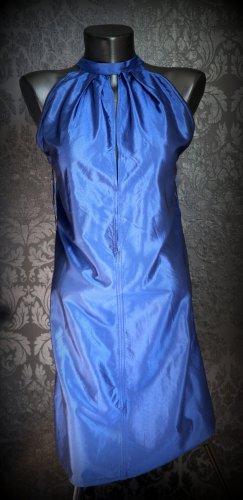 Hugo Boss Sukienka midi niebieski Jedwab