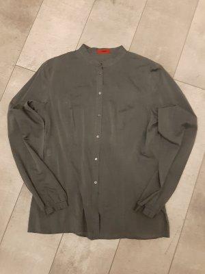 HUGO Hugo Boss Stand-Up Collar Blouse dark grey