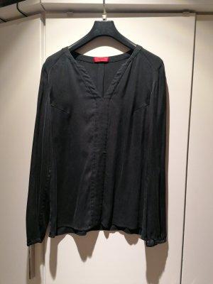 Hugo Boss Blouse topje zwart-antraciet