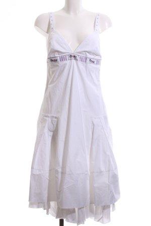 Hugo Boss A-Linien Kleid weiß Casual-Look
