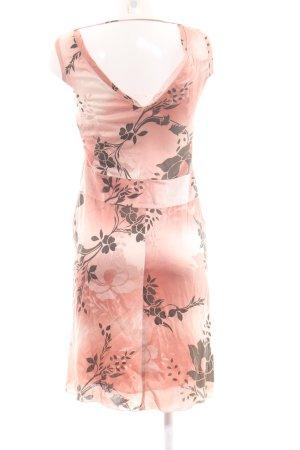 Hugo Boss A-Linien Kleid pink-braun Allover-Druck Business-Look
