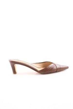 Hugo Boss Sandalo con tacco marrone stile casual