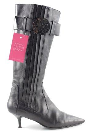 Hugo Boss Absatz Stiefel schwarz Casual-Look