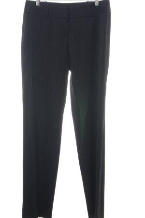 Hugo Boss Anzughose schwarz Streifenmuster Business-Look