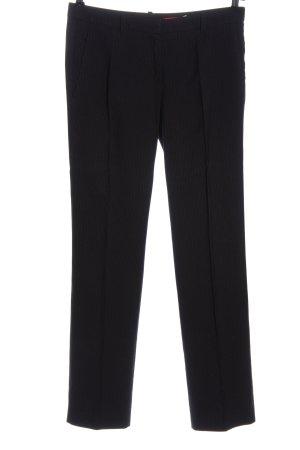 Hugo Boss Anzughose schwarz-hellgrau Streifenmuster Casual-Look