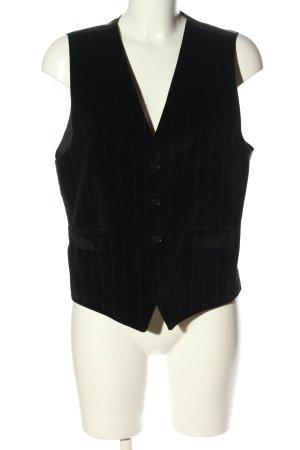 Hugo Boss Gilet de costume noir motif rayé style d'affaires