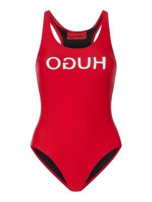 HUGO BOSS - Badeanzug mit Logo-Print Modell 'Nikini' - Rot -S