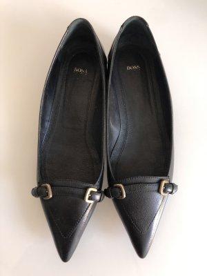 Hugo Boss Ballerina's met kant zwart