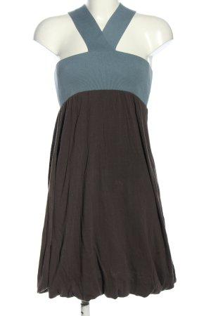 Hugo Boss Sukienka z rękawem balonowym niebieski-szaro-brązowy W stylu casual