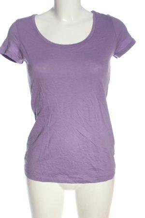 Hugo Boss Basic-Shirt lila Casual-Look