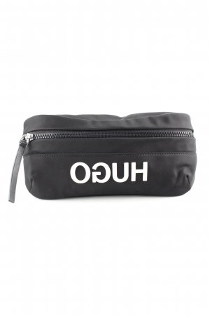 Hugo Boss Bumbag black-white printed lettering casual look