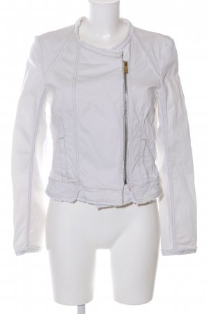Hugo Boss Bikerjacke hellgrau Casual-Look