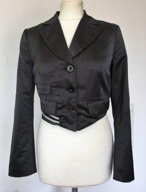 *HUGO BOSS * Blousonjacke kurz cropped  schwarz Baumwolle / Polyester Gr 34 XS S