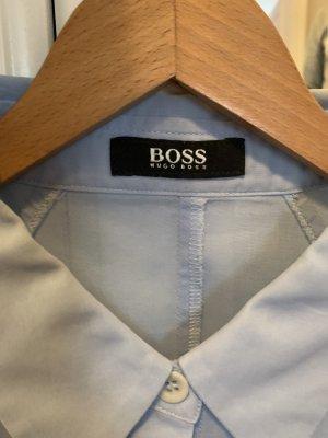 Hugo Boss Blouse-chemisier bleu azur-gris clair
