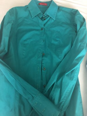 Hugo Colletto camicia turchese-blu cadetto