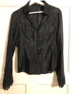 Hugo Boss Zijden blouse zwart Zijde