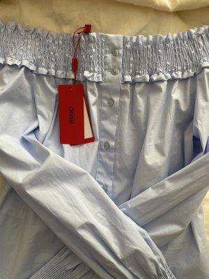HUGO BOSS Bluse - Schulterfrei in Hellblau