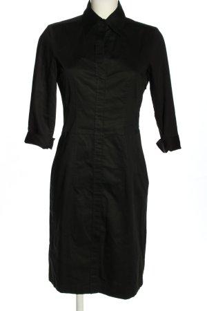 Hugo Boss Vestido camisero negro moteado look casual