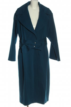 Hugo Boss bodenlanger Mantel blau Casual-Look