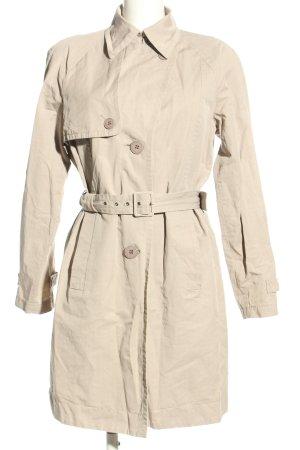 Hugo Boss Długi płaszcz kremowy W stylu casual