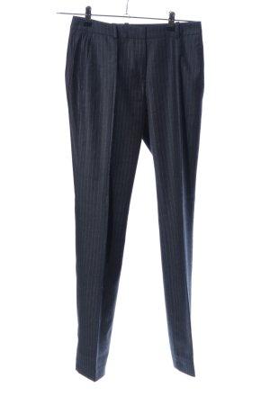 Hugo Boss Bundfaltenhose silberfarben-weiß Streifenmuster Business-Look