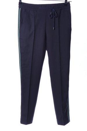 Hugo Boss Bundfaltenhose blau Casual-Look